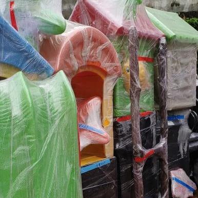 Children Plastic Slides Playground