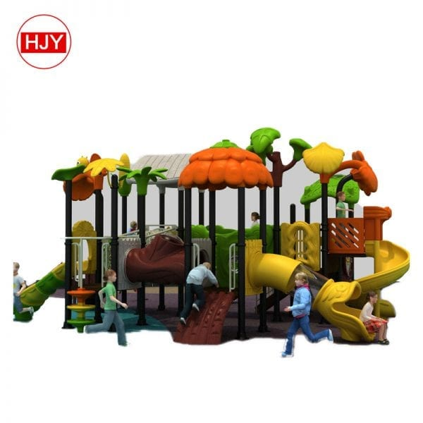 Playground Plastic house Slides
