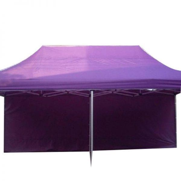 Display advertising purple tent