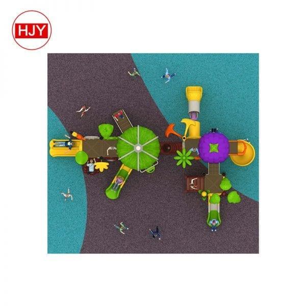 Kids playground plastic slide