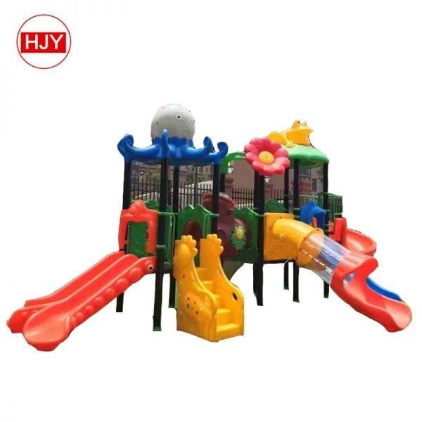 playground plastic bending slide