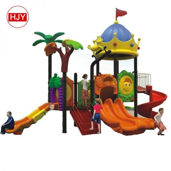 Children Play Plastic Slide