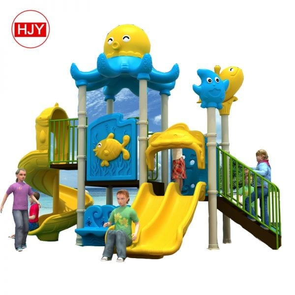 plastic water slides house kids playground