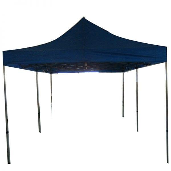 Folding aluminum trade show tent