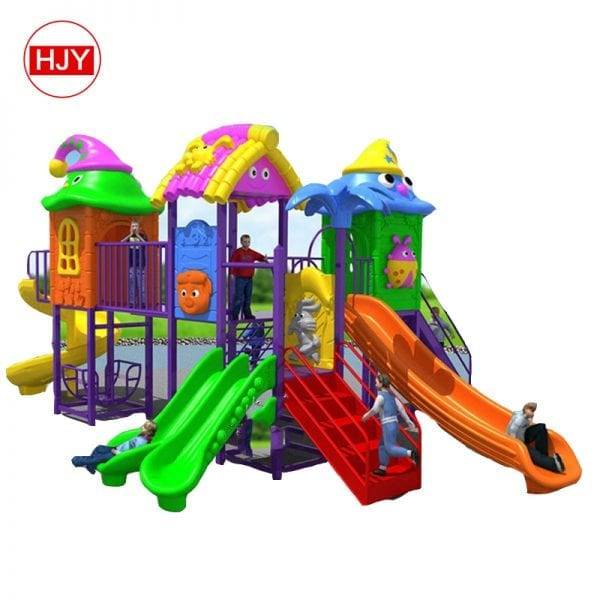 big colorful combination plastic slide