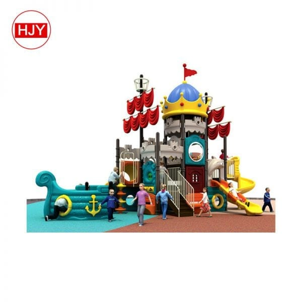 High quality Castle on the sea theme plastic tubes playground kids sliding toys from Guangzhou
