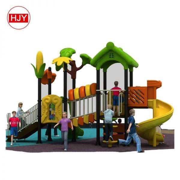outdoor plastic slide playground
