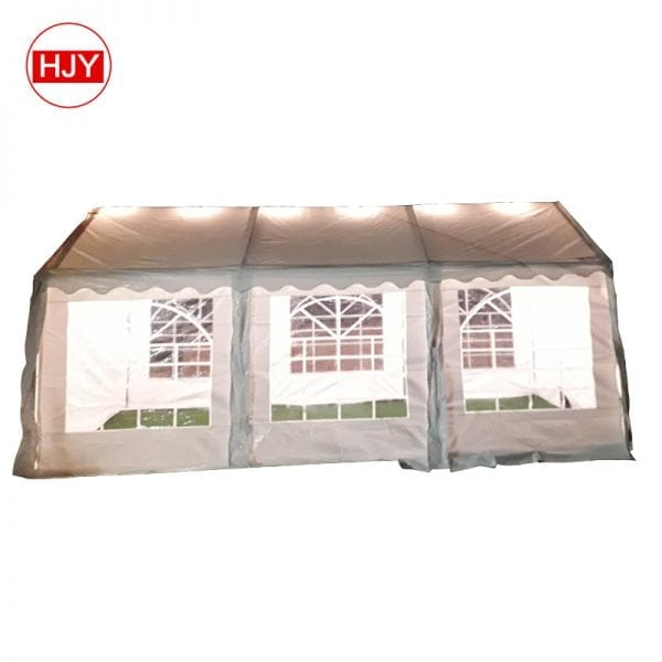 White Roof Cover Aluminium Frame resort tent