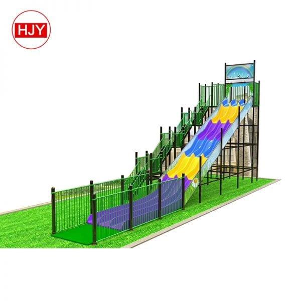 outdoor playground plastic slide