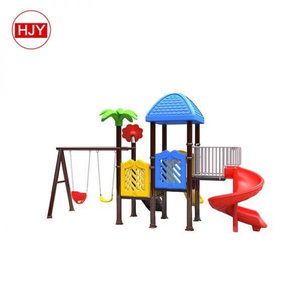 plastic garden swing in playground