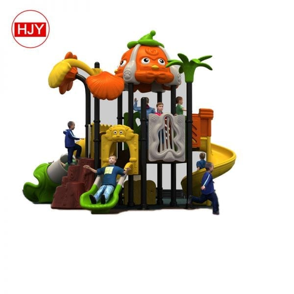 Children plastic slide outdoor